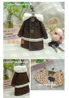 wonderland22 handmade: key bag(dress) 衣造型鑰匙包