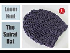 Loom Knit Hat : Super Easy Spiral - YouTube