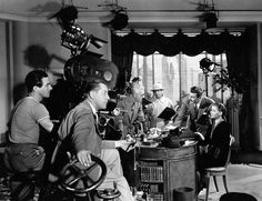 Lloyd Bacon directs George Brent and Ann Sheridan in Honeymoon for Three (1941)