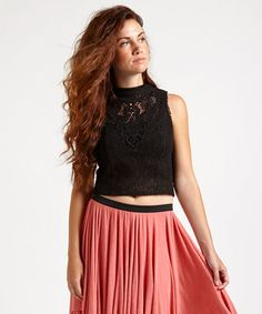 Look what I found on #zulily! Free People Black Greatest Hits Crop Top by Free People #zulilyfinds