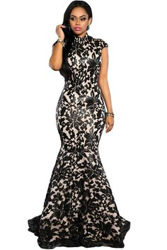 $134 - Black Mermaid Lace Gown INSTA FANCI - INSTA FANCI - 1