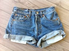 cannot wait to go home and pick through every thrift store and by all their high waist denim shorts. PERFECT.