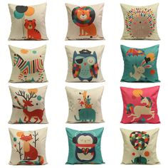 Alice in Wonderland Rabbit I/'m Late Linen Square Pillow Cushion Cover.