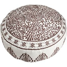 I pinned this Embroidered Floor Pouf in Ivory and Chocolate from the Ottoman Dynasty event at Joss and Main!