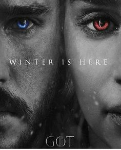 King and Queen of Westeros (fanmade, artist unknown) #Daenerys #daenerystargaryen #JonSnow #GameofThrones