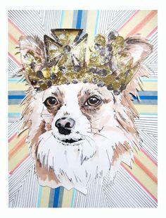 "Studio Legohead Jubilee Series Custom Pet Portraits. ""In honour of The Queen's Diamond Jubilee"" - Jo Chambers"