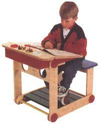 Child Desk Woodworking Plan, Indoor Kid Furniture Project Plan | WOOD Store