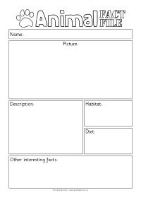 animal report template example Non-Chrolological/Information Report Writing Resources and . Animal Fact File, Animal Facts For Kids, Writing Resources, Writing Activities, Homeschooling Resources, Animal Activities, Language Activities, Learning Resources, Summer Activities