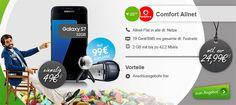 Vodafone Comfort Allnet (2GB) ab 24,99€ mit TOP Smartphones ab 1€ http://www.simdealz.de/vodafone/comfort-allnet-mit-top-smartphones/