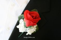 Red Rose #Boutonniere - $3.00