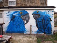 Artist @GnasherMurals superb nature in Street Art wall in London   #art #mural #streetart