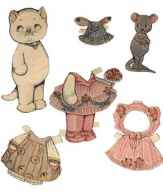Dolly Dingle Kitty Paper Doll