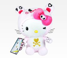 Tokidoki Hello Kitty Plush Doll Limited Edition franscosmeticsbargains compact brush jewelry devilgirl keyring keychain barbiedoll hellokitty plushtoys s accessories dolls accessories Sanrio Hello Kitty, Hello Kitty Plush, Hello Kitty Items, Stuffed Animal Cat, Stuffed Animals, Monster High Birthday, Cat Character, Hello Kitty Collection, Hello Kitty Wallpaper