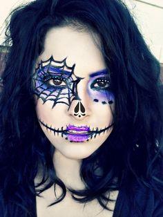 Purple Halloween Makeup