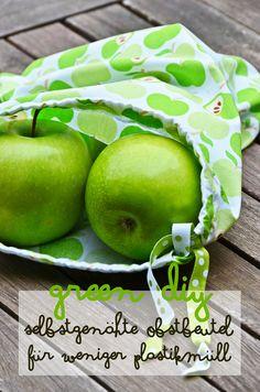 Green DIY   Stoff statt Plastik – Selbstgenähte Obstbeutel beim Einkaufen für weniger Plastikmüll