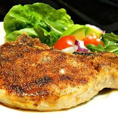 Pork Rub Rubbed and Baked Pork Chops Marinated Baked Pork Chops, Oven Fried Pork Chops, Boneless Pork Chops, Grilled Pork, Pork Roast, Rub Recipes, Pork Chop Recipes, Grilling Recipes, Cooking Recipes