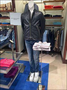 Burberry® Brit on a Pedestal – Fixtures Close Up Retail Merchandising, Burberry Brit, Pedestal, Retail, Retail Boutique