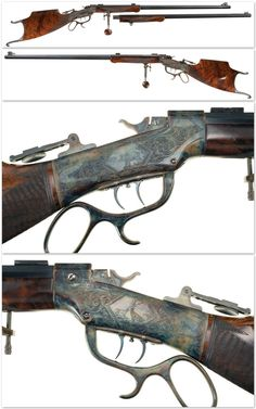 Engraved custom Marlin Ballard No. 6 single shot target rifle, late 19th century.