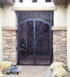 Ricci - Decorative Wrought Iron Entryway - EW0328