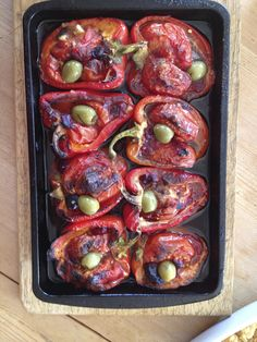 .... tomato stuffed oven roasted peppers.... couscous salad, everyday carrot salad, pearl barley /puy lentil salad and ... salad from the garden!