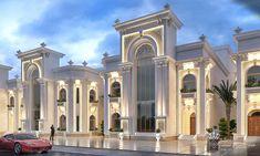 Al Hammam Villas Complex is part of House design - Architecture,Landscape Design,ArchiCAD,Vray,Adobe Photoshop Classic House Exterior, Classic House Design, Dream House Exterior, Luxury Homes Dream Houses, Luxury House Plans, Casas California, Conception Villa, Big Mansions, Mansion Designs