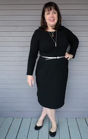 Cookin' & Craftin': Cashmerette Rivermont Dress in Crinkle Double Knit