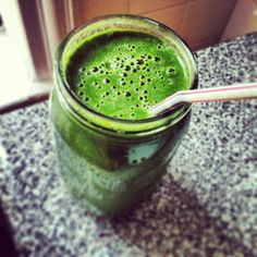 """Glowing Skin Green Smoothie #Recipe. Pinner said: """"I drink this every morning- it has helped me lose all my post-pregnancy baby weight! Now I weigh less than when I got pregnant!"""""""