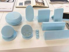 #ThinkDo Blue foam used to model & prototype ideas. How else might a designer model their ideas?