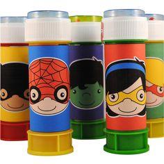 Superheld bellenblaas wikkels. http://printpret.nl/Superheld%20feestpakket