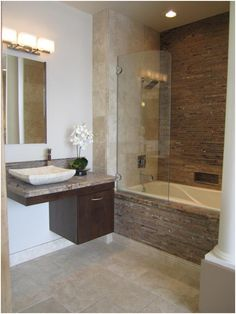 Floating Cabinets Contemporary Bathroom The Tile Shop