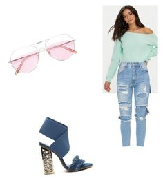 """""""sweetness"""" by ankitachhetri on Polyvore featuring Oliver Peoples and pastelsweaters"""