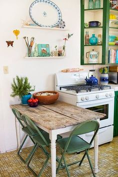 The Lovely Side: 12 Ways to Add Style & Storage to Your Apartment Kitchen