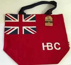 Hudson's Bay Company HBC Tote & Shopper Bag Red New Union Jack Flag Tres Canada #HudsonsBayCompany #TotesShoppers