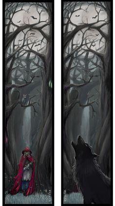 Red Riding Hood Bookmark by Maylar.deviantart.com on @deviantART