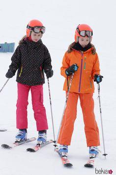 Infantes Leonor et Sofia, 5 février 2017, Station de ski Aston (Pyrénées espagnoles)