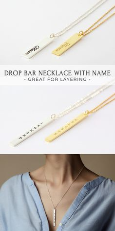Diamond Necklace / Diamond Bar Necklace in Solid Gold / Pave Diamond Necklace / Rose Gold Necklace / Christmas Gift / Black Friday - Fine Jewelry Ideas Best Bridesmaid Gifts, Bridesmaid Necklace Gift, Unique Birthday Gifts, Birthday Gifts For Girls, Engraved Necklace, Name Necklace, Best Friend Necklaces, Bridal Gifts, Handmade Jewelry