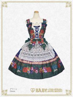 Polonaise Brillante ~Ideas of Maiden~ Apron JSK by Baby, the Stars Shine Bright Kawaii Dress, Scarf Dress, Lolita Fashion, Summer Wardrobe, Dream Dress, Costume Design, Apron, Costumes, Fashion Outfits