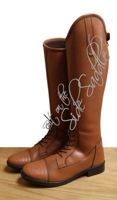 87be70d94503 Side Saddle Riding Boot Tan from Bit On The Side Saddle Riding Habit