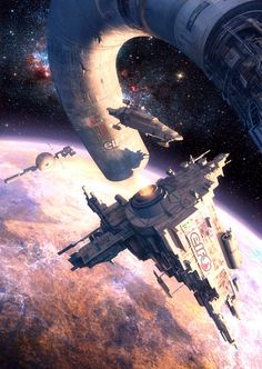 Orbital Station, Evgeny Katin on ArtStation at http://www.artstation.com/artwork/orbital-station
