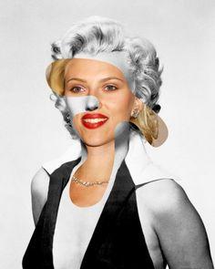 Old Hollywood Meets New photo collage:  Marilyn Monroe / Scarlett Johansson