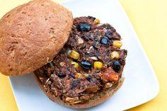 Sweet Tater Black Bean Burgers