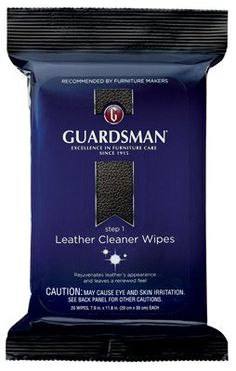 Guardsman Leather Cleaner Wipes Step 1 20 Count Guardsman https://www.amazon.com/dp/B01H93Y1IM/ref=cm_sw_r_pi_dp_p6GGxbABWP80V