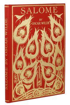Oscar Wilde Salome, Book cover design by Aubrey Beardsley