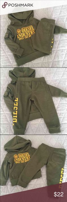 Infant boys Diesel track suit Size 12 months/ never worn Diesel Matching Sets
