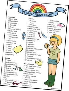 New Music Festival Camping Comment Ideas Reading Festival, Festival Camping, Festival Packing List, Coachella, Lollapalooza, Camping Illustration, Summer Checklist, Camping Checklist, Camping Survival