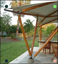 Pergola With Fireplace Bamboo Roof, Bamboo Art, Bamboo Crafts, Bamboo Structure, Timber Structure, Shade Structure, Bamboo Architecture, Tropical Architecture, Architecture Details