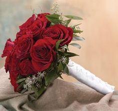Holmes-Shusas creating this gorgeous red rose bridal bouquet. Wedding 2015, Red Wedding, Wedding Events, Wedding Flowers, Wedding Day, Wedding Stuff, Red And White Wedding Themes, Rose Bridal Bouquet, Valentines Day Weddings