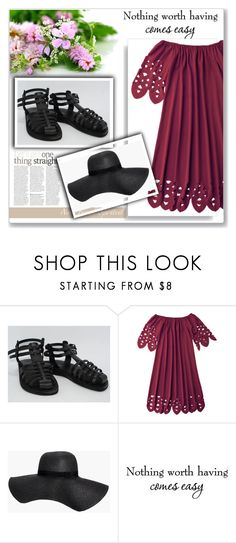 """""""Holysouq 15"""" by mary-turic ❤ liked on Polyvore featuring Jerusalem Sandals, Boohoo and WALL"""