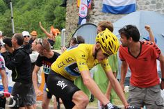 Chris Froome on his way up Alpe d'Huez.