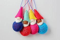 Handmade Gnome Ornaments  by myhideaway
